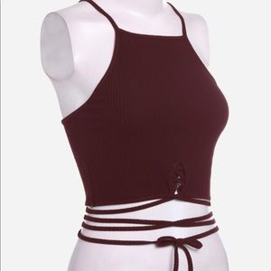 Crop Top with Criss Cross Straps